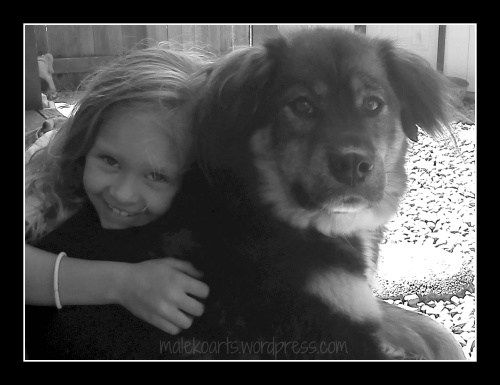 Charis and Sadee - 2012  (A picture of my girl and her dog, edited using PicMonkey  Maleko ©2012)