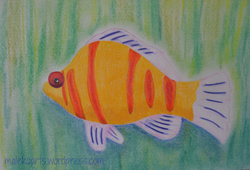 """Fish"" Pastels 8x10 inches Maleko ©2013"