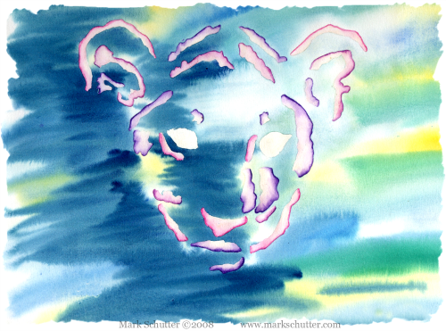"""""""Confusion Reign's""""  Previously painted watercolor  11x14 inches  Mark Schutter ©2008"""
