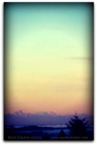 Photograph of the Olympic Mountains from Olympia, Washington  (March 2014)