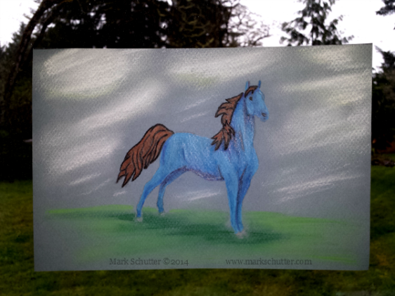 """""""Standing Alone""""   Pastels Pencils 12x9 inches"""