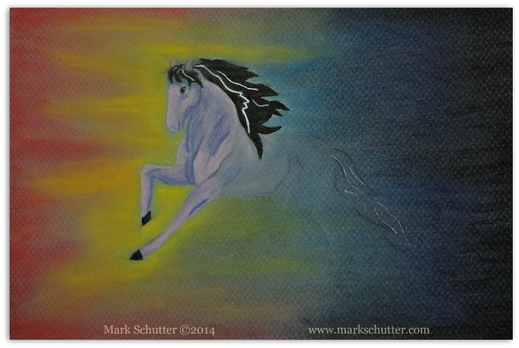 """Out of the Dark""   ©2014   Pastels - 9x6 inches"