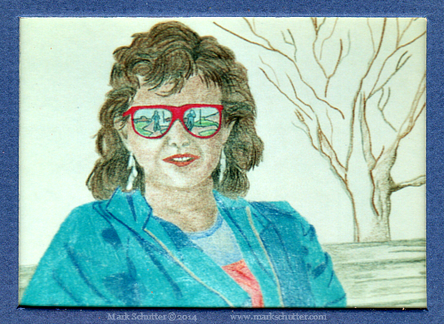 """Memory""  Colored Pencils  4x6 inches ©1987"
