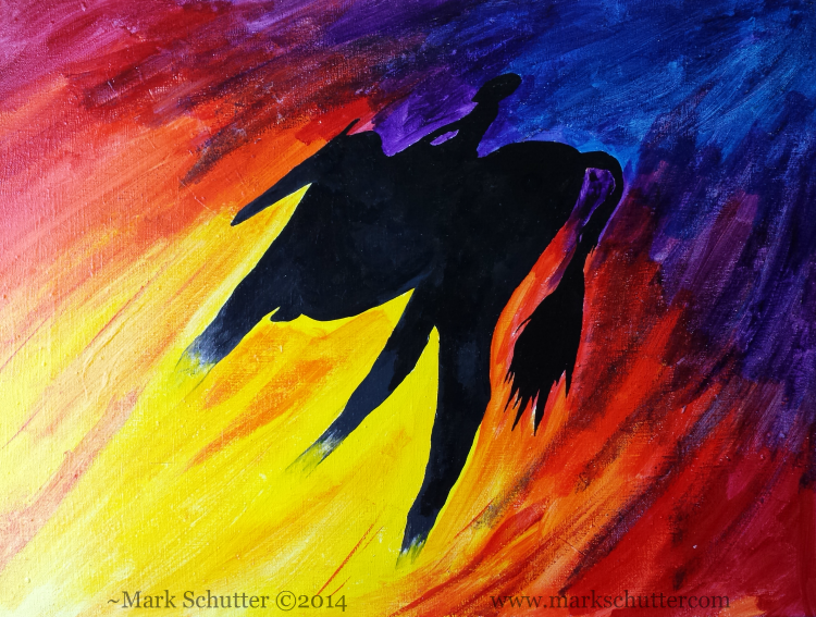 """Shadow Magic""   Acrylic on canvas    18x24 inches  ~Mark Schutter ©2014"