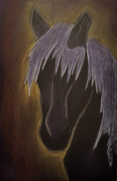 """Silver Mist"" Pastels on black paper 4x6 inches ©Mark Schutter"